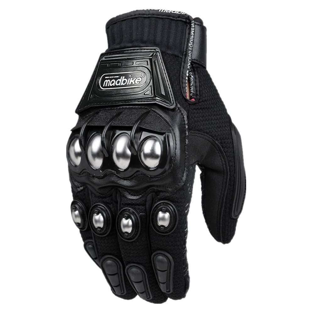 8. ILM Alloy Steel Knuckle Motorcycle Gloves