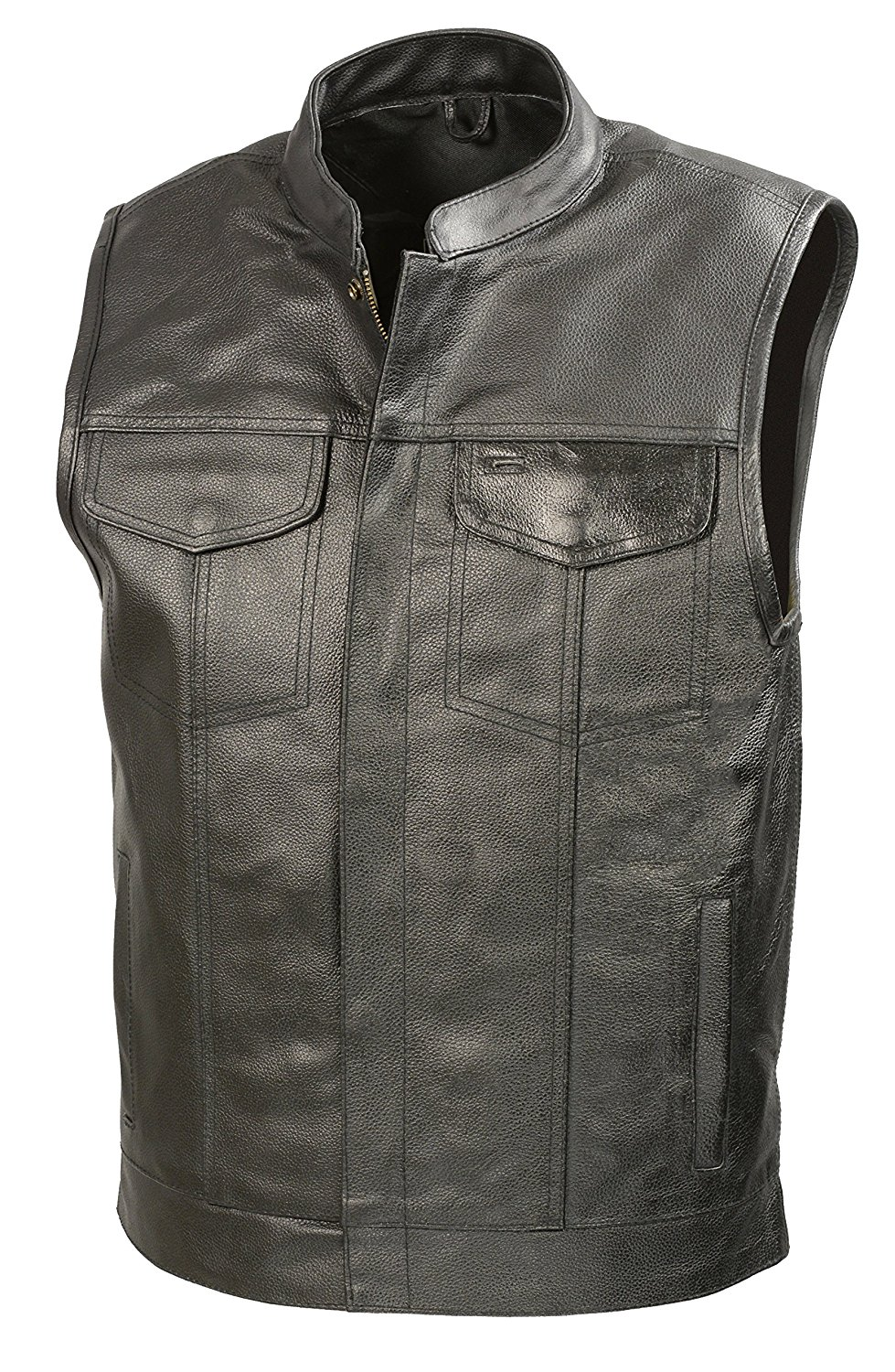 7. The Bikers Zone SOA Leather Vest