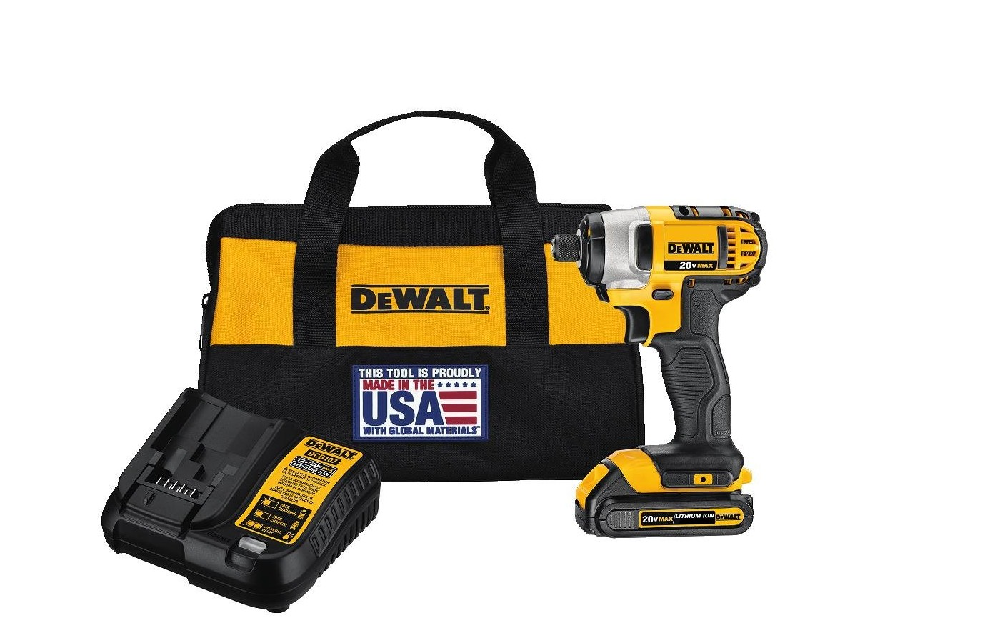 The drill is lightweight and compact