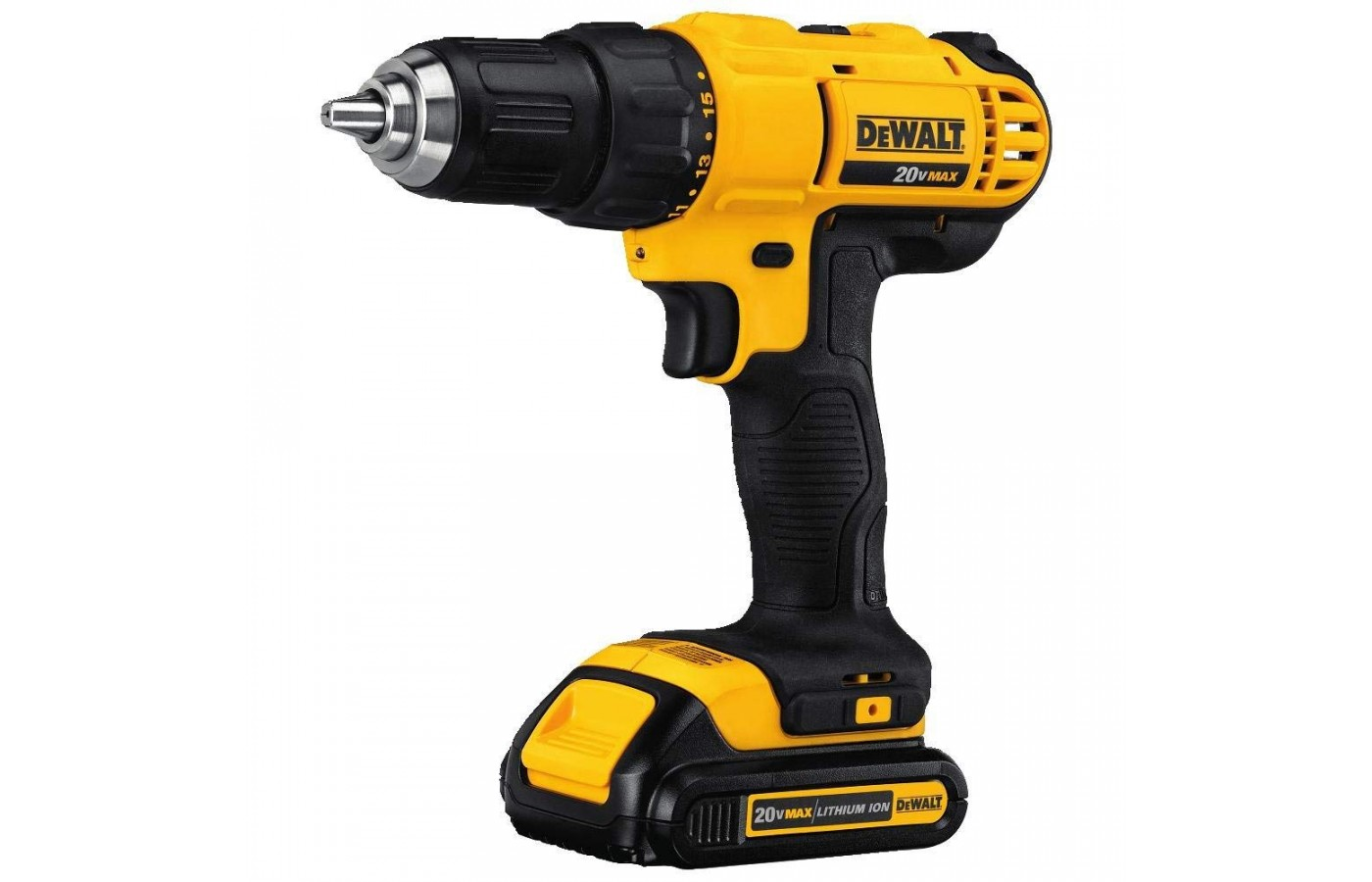 The drill has a small and compact design